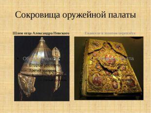 Сокровища оружейной палаты Шлем отца Александра Невского Евангеле в золотом п