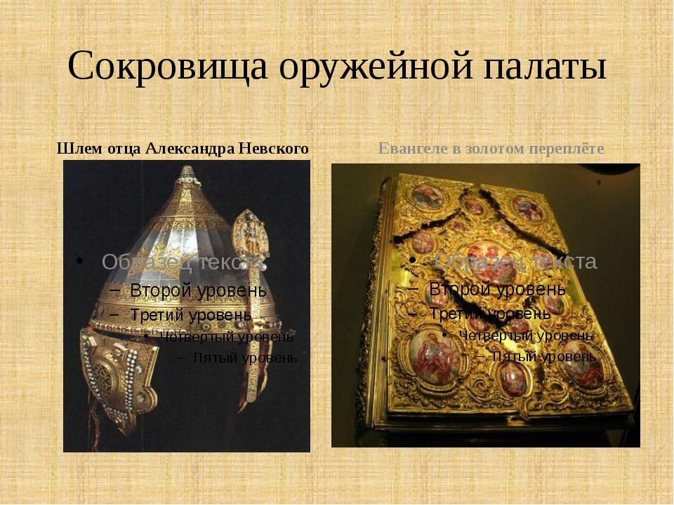 Сокровища оружейной палаты Шлем отца Александра Невского Евангеле в золотом п...