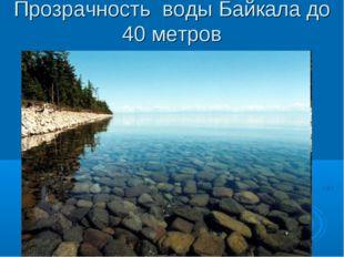 Прозрачность воды Байкала до 40 метров