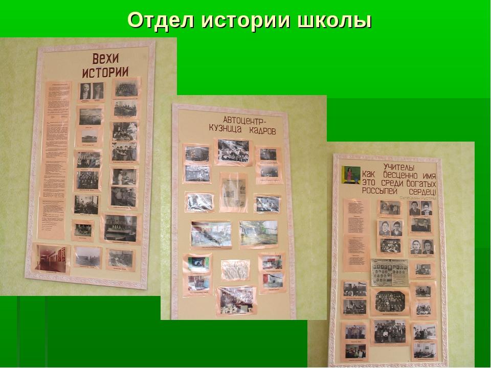 Отдел истории школы