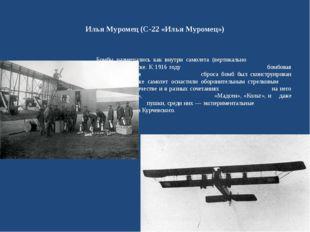 Илья Муромец (С-22 «Илья Муромец») Бомбы размещались как внутри самолета