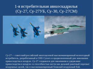1-я истребительная авиаэскадрилья (Су-27, Су-27УБ, Су-30, Су-27СМ) Су-27— сов