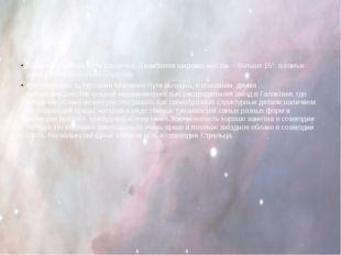 Ширина Млечного Пути различна: в наиболее широких местах – больше 15°, в сам