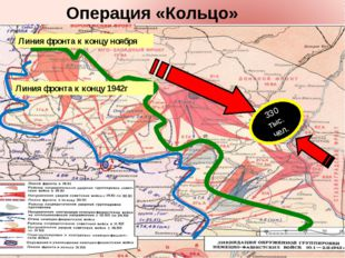 Линия фронта к концу ноября Линия фронта к концу 1942г 330 тыс. чел. Операци
