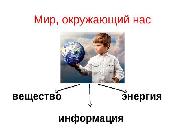 Мир, окружающий нас вещество энергия информация