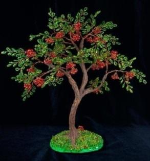 Бисероплетение: деревья - рябина