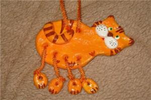 Фигурка тигренка из соленого теста