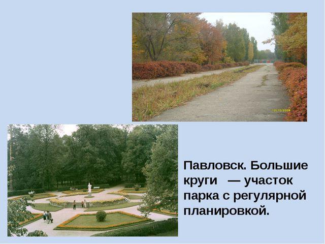Павловск. Большие круги — участок парка с регулярной планировкой.