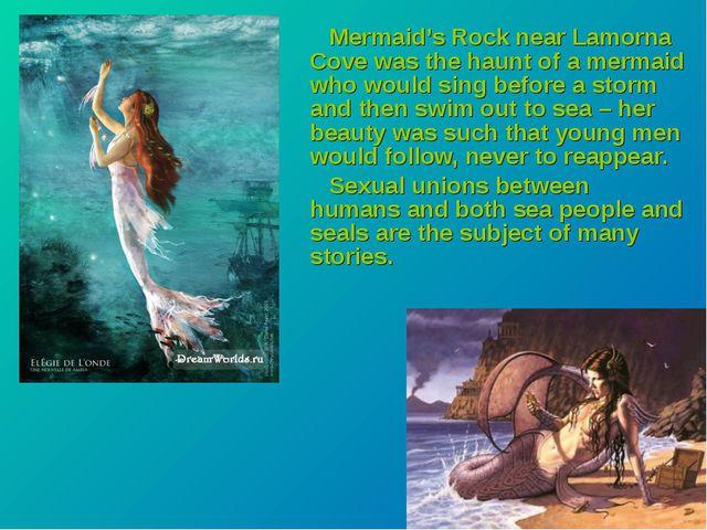 Mermaid's Rock near Lamorna Cove was the haunt of a mermaid who would sing b...