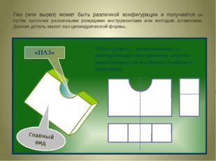 Паз (или вырез) может быть различной конфигурации и получается он путём прото