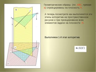 А теперь посмотрите как выполняются эти этапы алгоритма на пространственном