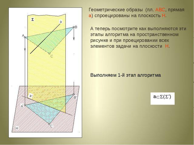 А теперь посмотрите как выполняются эти этапы алгоритма на пространственном...