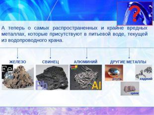 А теперь о самых распространенных и крайне вредных металлах, которые присутст
