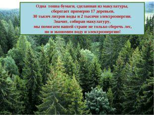 Сравнение затрат на производство бумаги из дерева и из макулатуры Одна тонна