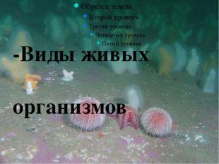 -Виды живых организмов