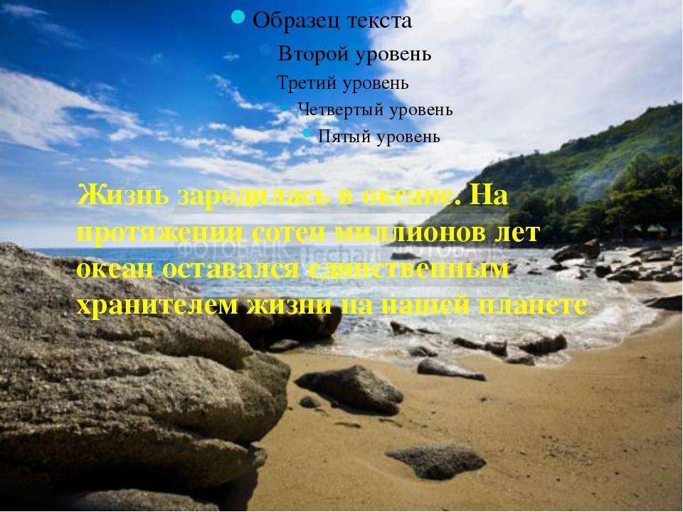 Жизнь зародилась в океане. На протяжении сотен миллионов лет океан оставался...