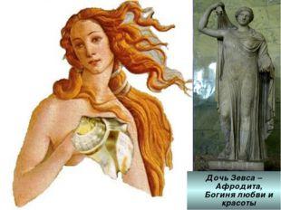 Дочь Зевса – Афродита, Богиня любви и красоты Дочь Зевса – Афродита, Богиня