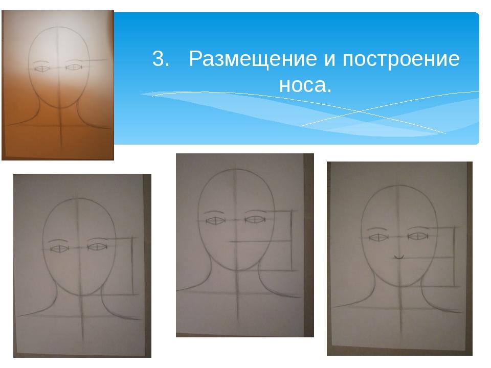 3. Размещение и построение носа.