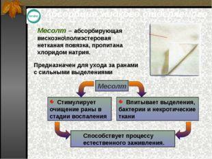 Абсорбция жидкого отделяемого Месолт – абсорбирующая вискозно\полиэстеровая н