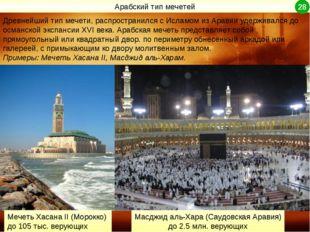 Древнейший тип мечети, распространился с Исламом из Аравии удерживался до осм
