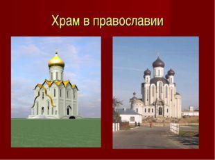 Храм в православии