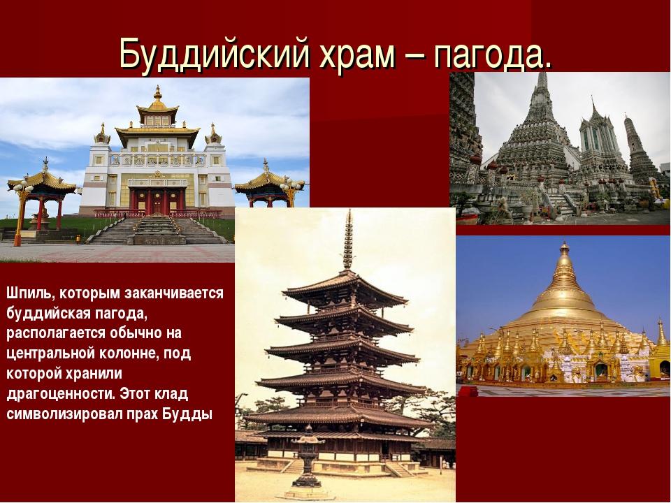 Буддийский храм – пагода. Шпиль, которым заканчивается буддийская пагода, рас...