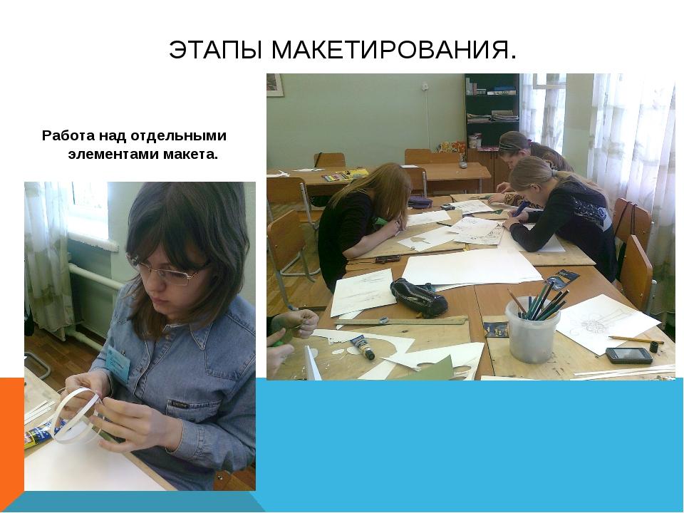 ЭТАПЫ МАКЕТИРОВАНИЯ. Работа над отдельными элементами макета.