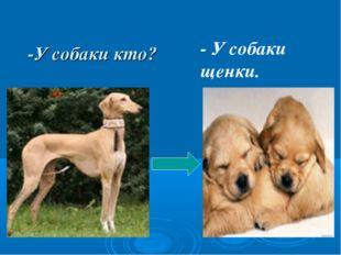 -У собаки кто? - У собаки щенки.