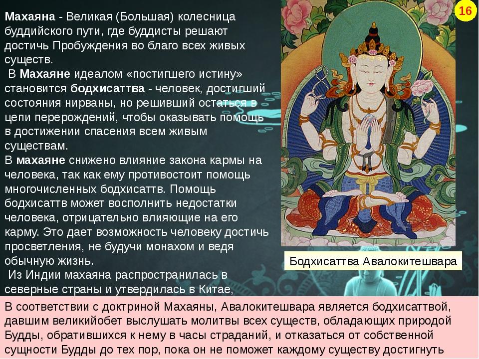 Махаяна - Великая (Большая) колесница буддийского пути, где буддисты решают д...