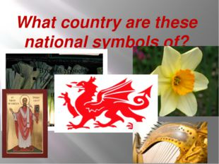 What country are these national symbols of?