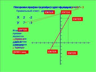 Сколько нужно точек, чтобы начертить одну прямую? ENTER Правильный ответ: две