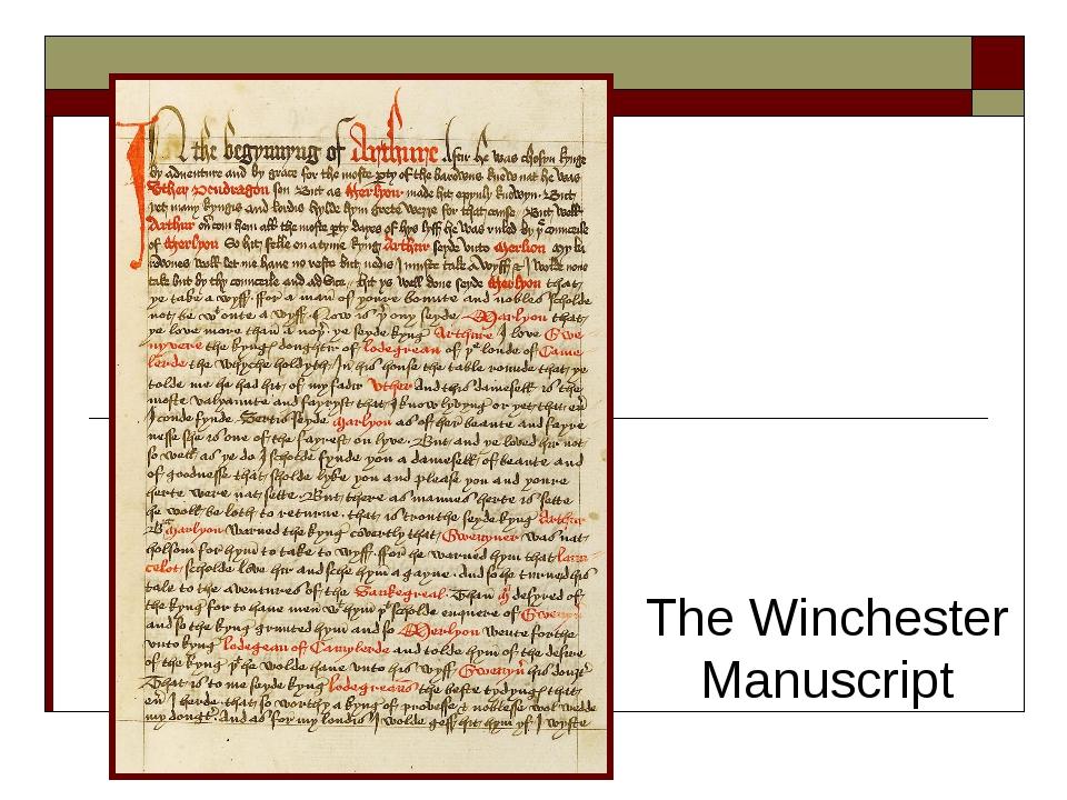The Winchester Manuscript