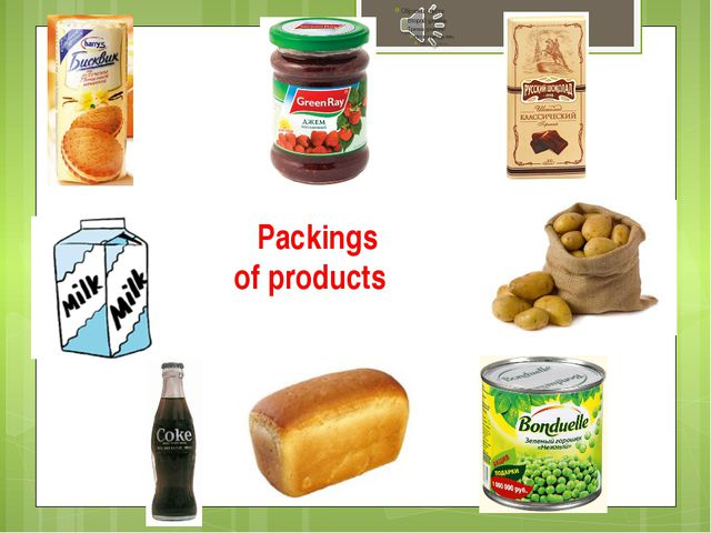 Packings of products
