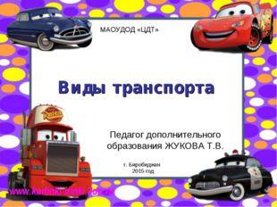 Виды транспорта Педагог дополнительного образования ЖУКОВА Т.В. г. Биробиджан