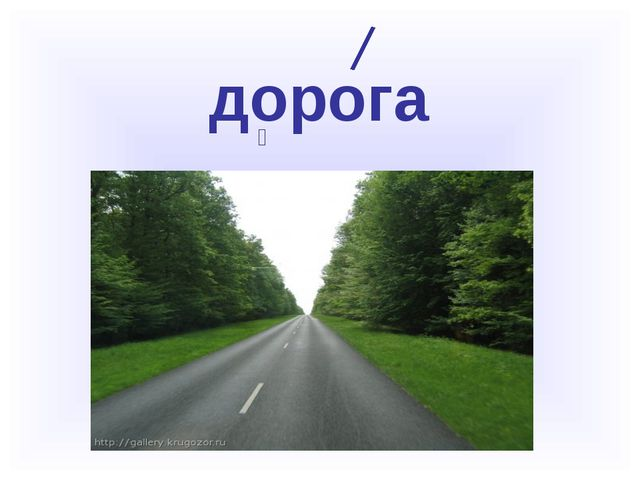 дорога 