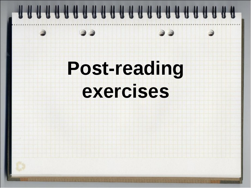 Post-reading exercises