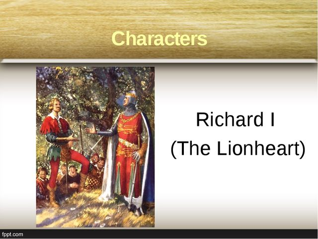 Richard I (The Lionheart) Characters