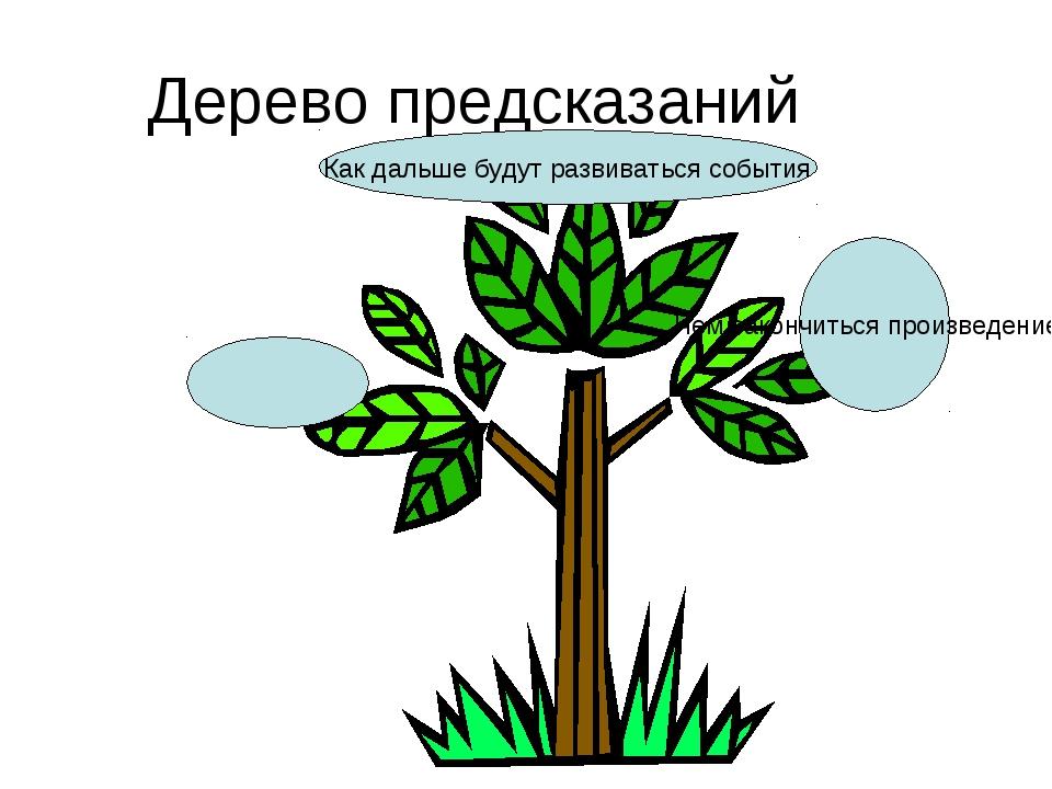 Дерево предсказаний Чем закончиться произведение? Как дальше будут развиватьс...