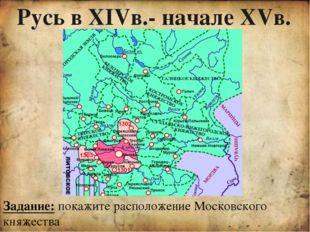 Династия московских князей Даниил Александрович Юрий Иван Калита Симеон Горд