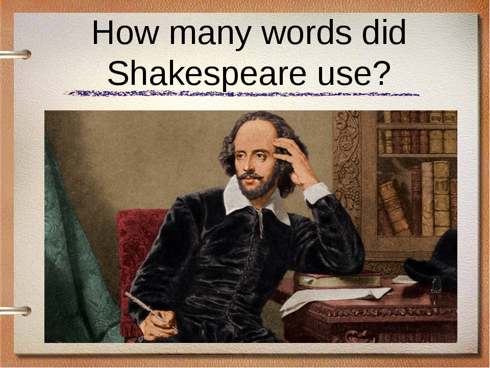 How many words did Shakespeare use?