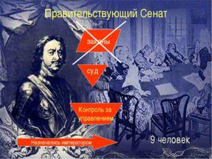 Правительствующий Сенат законы суд Контроль за управлением Назначались импера