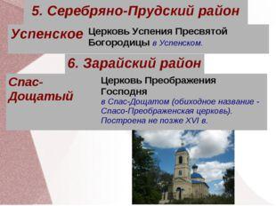 5. Серебряно-Прудский район УспенскоеЦерковь Успения Пресвятой Богородицы в
