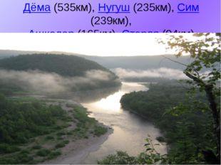 Дёма(535км),Нугуш(235км),Сим(239км), Ашкадар (165км),Стерля(94км)