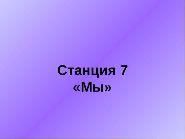 Станция 7 «Мы»