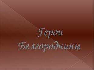 Герои Белгородчины.