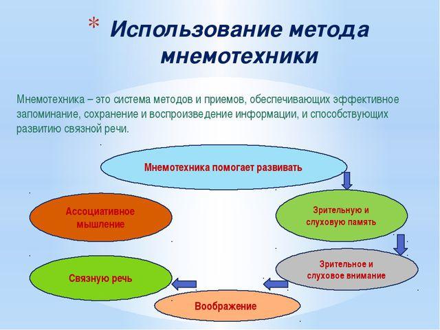 Мнемотехника – это система методов и приемов, обеспечивающих эффективное запо...