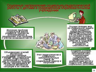 Основные направления социально-педагогической работы с детьми в современном о