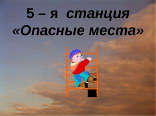 5 – я станция «Опасные места»