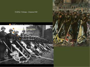 ПАРАД Победы – 24 июня 1945