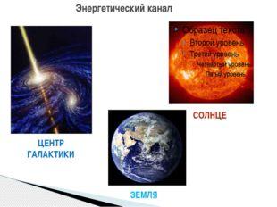 Энергетический канал ЦЕНТР ГАЛАКТИКИ СОЛНЦЕ ЗЕМЛЯ
